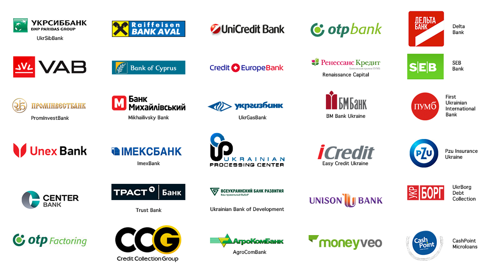 Some of our clients are: Raiffeisen Aval, UniCredit Bank, Delta Bank, UkrSibBank / BNP Paribas, Ukrainian Processing Center, ...
